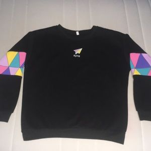 Black crew neck sweater worn once